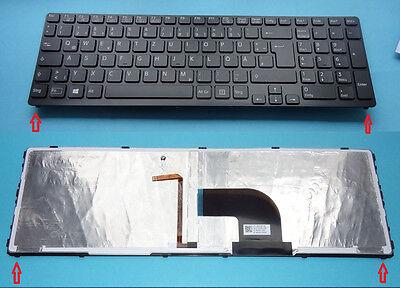Tastatur SONY Vaio SVE-1712Z1EB SVE-1713U1E Backlight Beleuchtet Keyboard DE