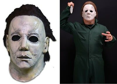 Halloween 6 THE CURSE OF MICHAEL MYERS Latex Deluxe Mask + Deluxe Coveralls NEW - Halloween Curse Of Michael Myers Mask