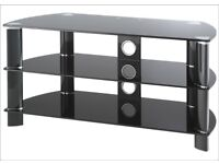 John Lewis JL1050/B10 Television Stand, Black Glass - VGC, cost £130 new, sell for just £45 ono