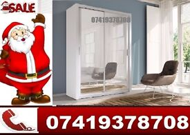 2 and 3 Door Wardrobe with Sliding Mirror Doors and Drawers