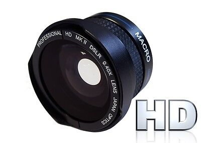 Pro Hi Def Wide Angle Lens With Macro For JVC Everio GZ-R550 GZ-R440