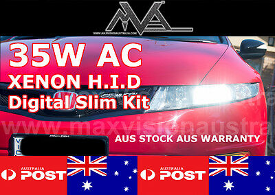 35W AC HID XENON KIT SLIMLINE CONVERSION ALL SIZES BEST QUALITY AUS (Best Quality Hid Kit)