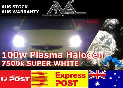 MVA PLUS H3 12v 100w Plasma 7500K Halogen Globes with HD Ceramic Wiring Harness