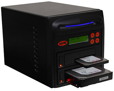 Systor Systems 1:1 Dual Port Hard Drive Cloner - Copy & Erase HDD/SSD AT High Speed