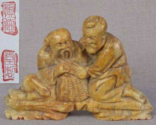 19c Chinese SOAPSTONE SEAL Chinese scholars