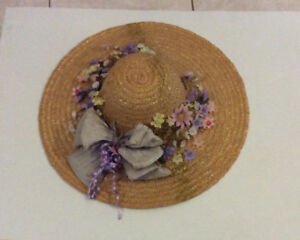 floral lady straw hat for gardening or decoration, outing, etc