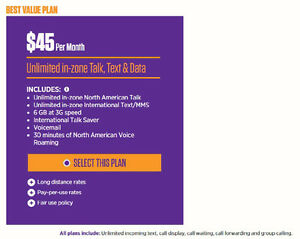 Selling Mobilicity to Chatr Migration plan 6GB + North-American