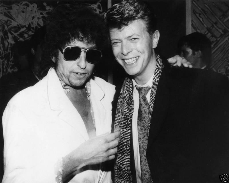 Bob Dylan / David Bowie 4x6 Music Memorabilia