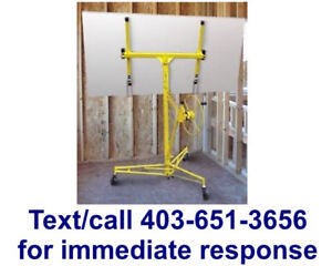drywall panel lift rental $40/month - text 403-651-3656