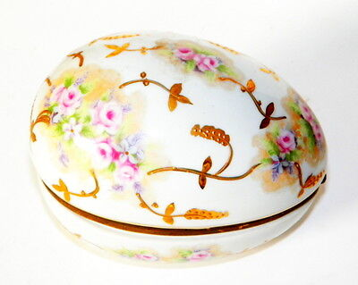VINTAGE EDWARDIAN PORCELAIN EASTER EGG BOX,  GERMANY