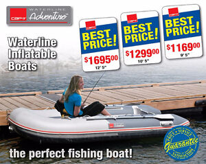 Cap-it Waterline Inflatable Boats 9.5 & 10.5 & 12.5