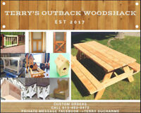 Terry's outback  wood  shack .