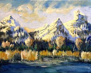 """Icefields Parkway"" original painting"