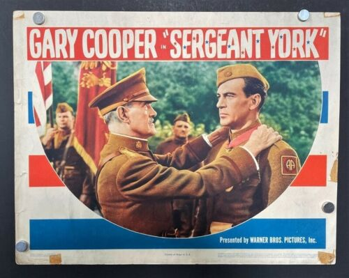 Sergeant York Original Lobby Card Gary Cooper 1941 Classic  *Hollywood Posters*