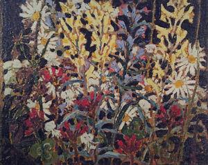"Tom Thomson ""Wildflowers"" panel"