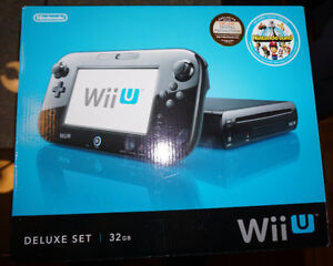 WiiU Deluxe 32Gb + 8 jeux + WiiFit + 3 manettes, 2 nunchuck