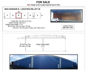 New Hangar For Sale at the Langley Airport