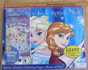New Frozen Storybook Large Activity Pad