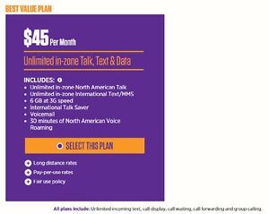 6GB Mobilicity to Chatr Migration plan with North American calli