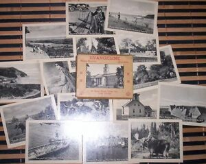 16 photo cards in mailer for Evangeline Nova Scotia 1930s era