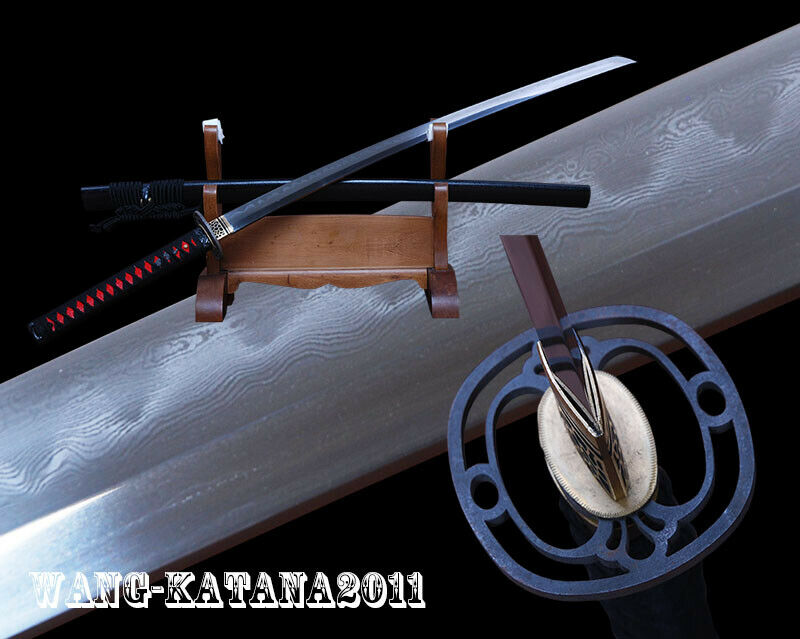Razor Sharp Japanese Katana Clay Tempered Folded 1095 Steel Practice Sword