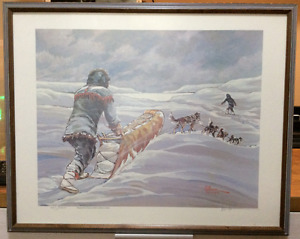 """Breaking Trail"" by NWT Artist Bern Will Brown - $550 OBO"