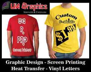 SAME DAY SERVICE Custom T-Shirt, Sign, Business Cards, Flyers