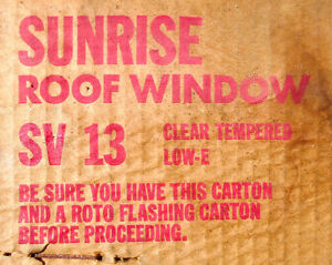 Roto Roof Window/Skylight + Flashing in Boxes