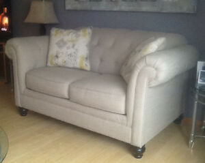 Tufted Sofa and Loveseat
