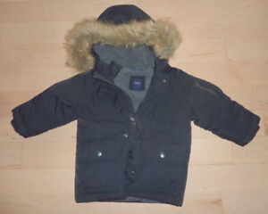 Great down-filled GAP coat with hood, size 18-24 months