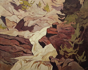 """A.J. Casson """"Ragged Falls"""" Lithograph - Appraised at $650"""