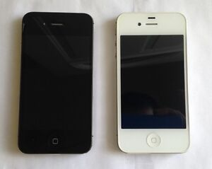 Two Apple iPhone 4S 16GB Bell Virgin Excellent Condition $60