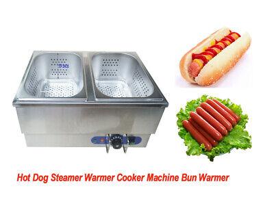 Commercial Hot Dog Steamer Warmer Cooker Machine Bun Warmer Fast Delivery