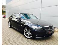 2007 56 reg BMW 330d M Sport Saloon + Automatic+ Black + Black LEATHER + Sat Nav