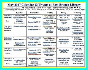 May at The East Branch Public Library