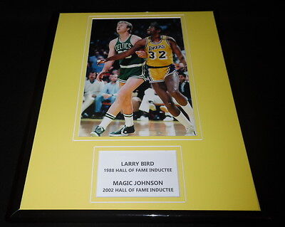 Larry Bird vs Magic Johnson Framed 11x14 Photo Display Lakers vs Celtics