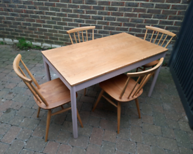Ercol Solid Elm Dining Table Desk Vintage Retro Delivery Available
