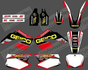 TEAM GRAPHICS & BACKGROUNDS DECALS STICKERS Kits for HONDA CR125 CR250 2000 2001