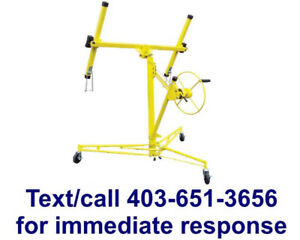 drywall panel lift for rent $40/month - text 403-651-3656