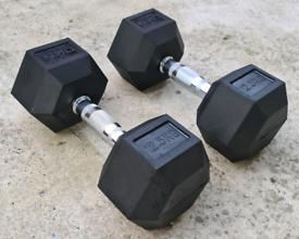 Brand New 2x 12.5kg Dumbell Set