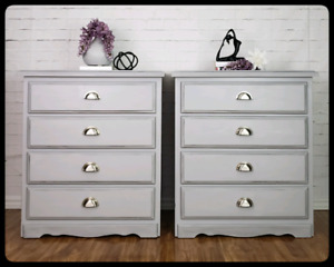 Grey oversize Side Tables/dressers