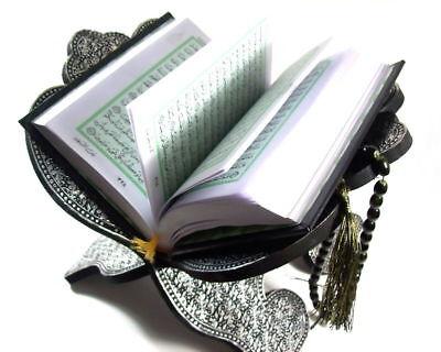 Schöne Koran Ständer Koran Halter Silber+Quran Arabisch*Allah Hijab Muslim Islam