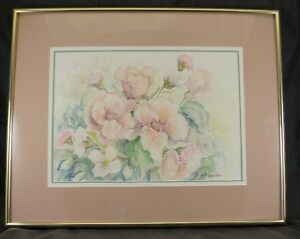 FRAMED ORIGINAL WATER COLOR BY SANDRA RIDSDALE