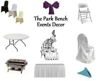LOOKING TO RENT TABLES, CHAIRS, LINENS, DÉCOR for Your Event?