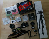 Canon Rebel T5i bundle with 18-135mm and 50mm lenses