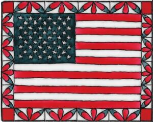 American Flag Stained Glass Painting