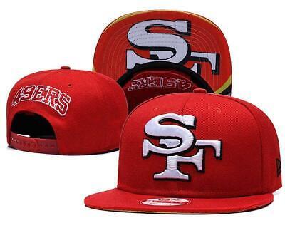 San Francisco 49ers New NFL Embroidered Hat Snapback Adjustable Cap Adult  Size