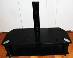 Glass black Tv stand - PRICE IS NEGOTIABLE