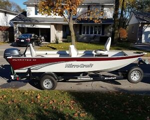 2014 Mirrorcraft 1615 Outfitter / 25 HP Yamaha London Ontario image 1