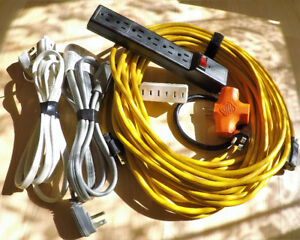 Extension Cords & Power Bars (Various Lengths/Models)